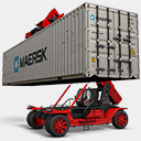 Icon: Maersk-2, container-2 antrepo, Pixel: 128 x 128 px