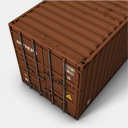 Icon: Brown 2, container antrepo, Pixel: 128 x 128 px