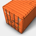 Icon: Orange 2, container antrepo, Pixel: 128 x 128 px