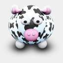 Icon: CowBlackSpots, we-love-cows archigraphs, Pixel: 128 x 128 px