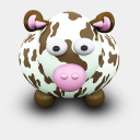 Icon: CowBrownSpots, we-love-cows archigraphs, Pixel: 128 x 128 px