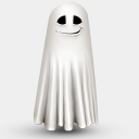 Icon: shy-ghost, lovely-halloween artdesigner, Pixel: 128 x 128 px