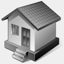 Icon: 3-Gray-Home, vista-artistic awicons, Pixel: 128 x 128 px