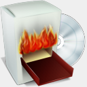 Icon: Burning Box V2, bagg-and-boxs babasse, Pixel: 128 x 128 px