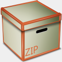Icon: Zip Box, bagg-and-boxs babasse, Pixel: 128 x 128 px