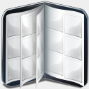 Icon: Book Cd Vide, bagg-and-boxs babasse, Pixel: 128 x 128 px