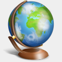 Icon: Globe Terrestre, bagg-and-boxs babasse, Pixel: 128 x 128 px