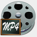 Icon: Fichiers Mp 4, old-school babasse, Pixel: 128 x 128 px