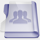 Icon: Purple-group, rise-folder benjigarner, Pixel: 128 x 128 px