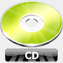 Icon: CD, summer-collection benjigarner, Pixel: 128 x 128 px