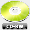 Icon: CD-RW, summer-collection benjigarner, Pixel: 128 x 128 px