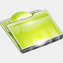 Icon: Folders CD Folder, summer-collection benjigarner, Pixel: 128 x 128 px