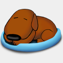 Icon: Sleeping Old Dog, a-dogs-life benoit-bender, Pixel: 128 x 128 px