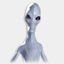 Icon: Alien-Abduction, skeptic daniel-loxton, Pixel: 128 x 128 px