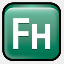 Icon: Adobe Freehand CS3, adobe-family deleket, Pixel: 128 x 128 px