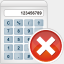 Icon: Calculator Remove, aesthetica-2 dryicons, Pixel: 64