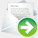 Icon: Forward New Mail, aesthetica-2 dryicons, Pixel: 128 x 128 px
