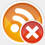 Icon: Rss Remove, aesthetica-2 dryicons, Pixel: 64