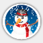 Icon: Merry Christmas Snowman, christmas-2009 dryicons, Pixel: 64
