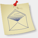 Icon: Email, sketchy-paper dryicons, Pixel: 128 x 128 px