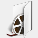 Icon: Folder Videos, lha-folders enhancedlabs, Pixel: 128 x 128 px