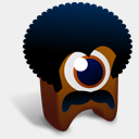 Icon: Black Power Creature, creatures fasticon, Pixel: 128 x 128 px