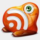 Icon: FeedMonster, feed-twitter-monster fasticon, Pixel: 128 x 128 px