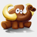 Icon: Mammoth Seated, mammoth fasticon, Pixel: 128 x 128 px