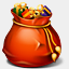 Icon: Recycle-bin-full, red-christmas harwen, Pixel: 64