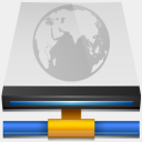 Icon: Network Drive Connected, simple harwen, Pixel: 128 x 128 px