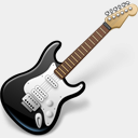 Icon: Garage Band, black-and-blue-add-on icondrawer, Pixel: 128 x 128 px