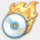 Icon: Burn Application, pastel iconica, Pixel: 128 x 128 px
