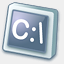 Icon: Dos Application, pastel iconica, Pixel: 64