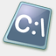 Icon: Dos Batch File, pastel iconica, Pixel: 64