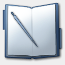 Icon: Notepad, slate iconica, Pixel: 128 x 128 px