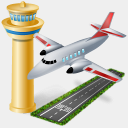 Icon: Air Port, gis-gps-map icons-land, Pixel: 128 x 128 px
