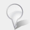 Icon: Bulb Grey, gis-gps-map icons-land, Pixel: 128 x 128 px