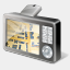 Icon: GPS Device Map, gis-gps-map icons-land, Pixel: 64