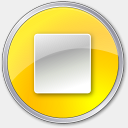 Icon: Stop Normal Yellow, play-stop-pause icons-land, Pixel: 128 x 128 px