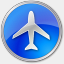 Icon: Airport-Blue, points-of-interest icons-land, Pixel: 64