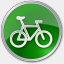 Icon: Bicycle Green, points-of-interest icons-land, Pixel: 64