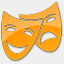 Icon: Theater-Yellow-2, points-of-interest icons-land, Pixel: 64