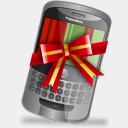 Icon: blackberry, christmas-gadgets iconshock, Pixel: 128 x 128 px