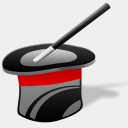 Icon: magic-hat, circus iconshock, Pixel: 128 x 128 px