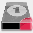 Icon: Drive 3 Br Bay 1, drive icontoaster, Pixel: 128 x 128 px