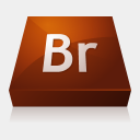 Icon: Adobe Bridge, adobe-cs3 media-design, Pixel: 128 x 128 px