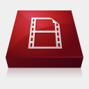 Icon: Adobe Flash Video Encoder, adobe-cs3 media-design, Pixel: 128 x 128 px
