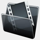 Icon: HP-Video-Folder, hydropro media-design, Pixel: 128 x 128 px