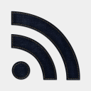 Icon: rss-basic, blue-jeans-social-media mysitemyway, Pixel: 128 x 128 px