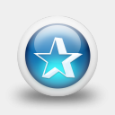 Icon: Glossy 3d Blue Orbs2 039, clean-3d mysitemyway, Pixel: 128 x 128 px